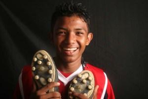 Joven beneficiario de la Fundación Colombianitos