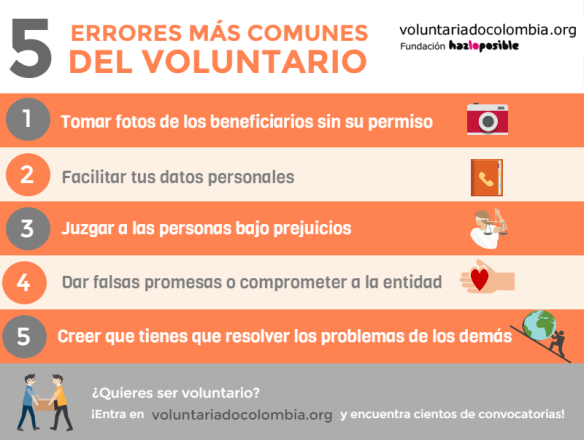 5 Errores del voluntario solo