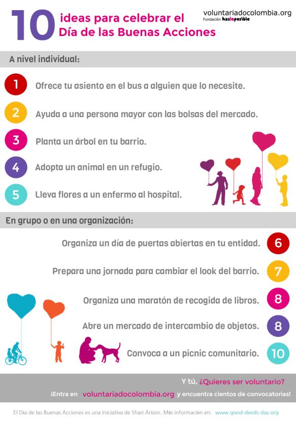 10 ideas de buenas acciones